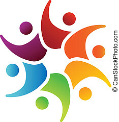 Happy Team 6 Leute Image-Logo.