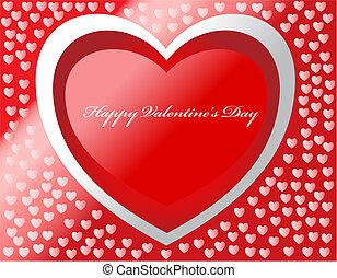 Happy Valentine's Day Vektorkarte mit Herzen und Effekten.