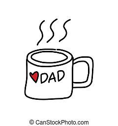 Happy Vaters Tag Zeichentrick-Handzeichnung.