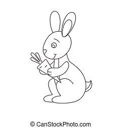 Hare für Farbbuch