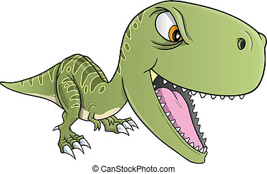Harter Dinosaurier-Trex-Vektor.