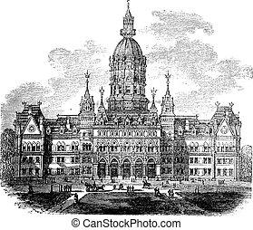 Hartford, Connicut, neues Staatshaus, Jahrgang
