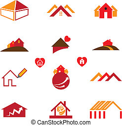 Haus- und Bürologos für Immobiliengeschäfte