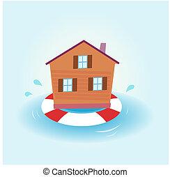 Hausflut - über Wasser bleiben