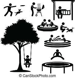 Haushof-Aktivitäts-Pictogramm