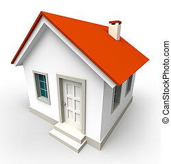 Hausmodell mit rotem Dach