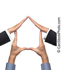Haussymbol von Händen