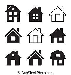 Haussymbole auf weiß