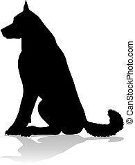 haustier, hund, tier, silhouette