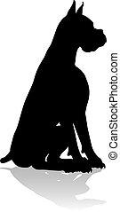 haustier, tier, hund, silhouette