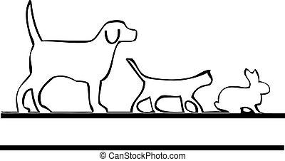 Haustiere laufen ein Logo