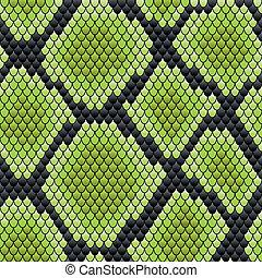 haut, muster, reptil, grün, seamless