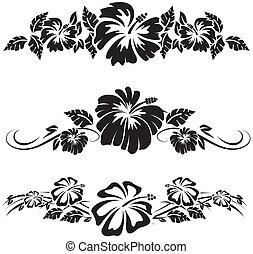 Hawaiianische Hibiskusblumen