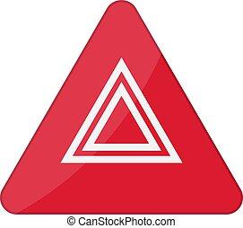 Hazard-Warnleuchten blinken Knopf im Auto. Vector Illustration