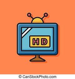 HD TV Icon.
