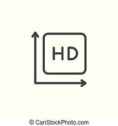 HD Video Line Icon