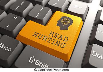headhunting, button., tastatur