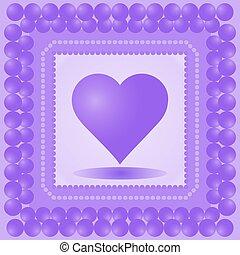 heart., abbildung, vektor