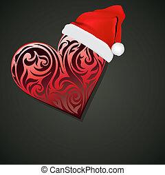 Heart Christmas Vektor Hintergrund