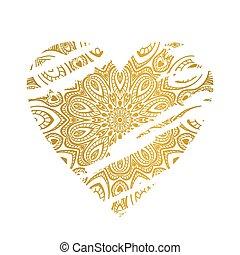 heart., gold, aufwendig
