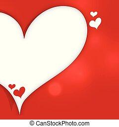 Hearts Banner mit Textraum Hintergrund.