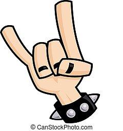 Heavy-Metal-Teufelshorn-Handzeichen
