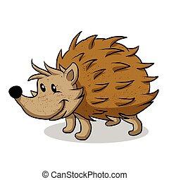 Hedgehog Cartoon.