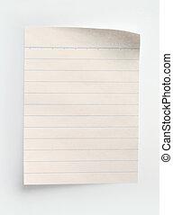 Heftpapier in Lined