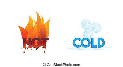 Heiß und kalt oder Feuer und Eis Ikonen;