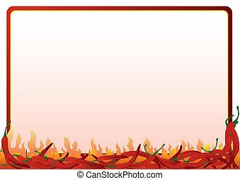 Heißer, roter Pfeffer