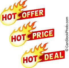 Heißes Angebot, Preis und Verkauf von Flammenaufklebern.