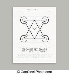 Heilige Linie Geometrie.