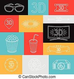 heiligenbilder, elemente, film, hintergrund, kino
