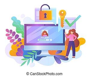 heiligenbilder, passwort, online, schutz, sicherheit