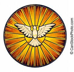 Heiliger Geist beflecktes Glas