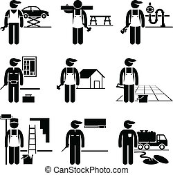 heimwerker, geschickt, stellen, berufe