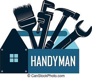heimwerker, reparatur, symbol