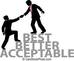 Helfen Sie, sich den besten Geschäftsleuten anzuschließen.