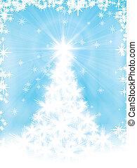 Hellblaue Weihnachtskarte