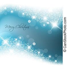 Hellblauer, abstrakter Weihnachts Hintergrund