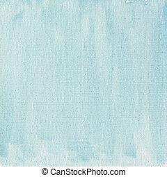 Hellblaues Wasserfarben abstrakt mit Leinwandsims