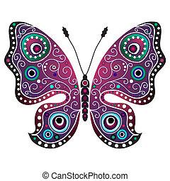 Heller abstrakter Schmetterling