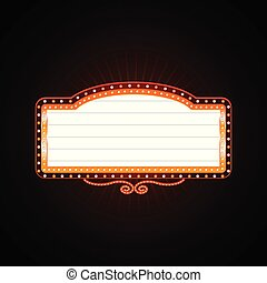 Helles Casino leuchtet Retro Casino Neon-Schild.