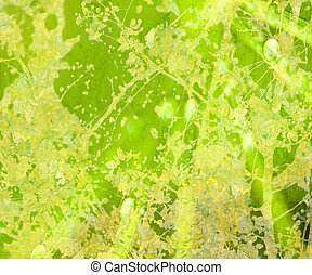 Hellgrünes Blumengrange, abstrakt