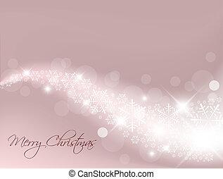 Hellrote, abstrakte Weihnachtsgeschichte