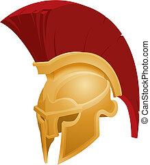 helm, spartan, abbildung