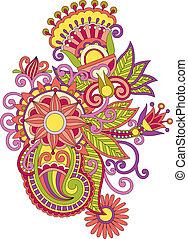 Henna Mendie-Blumen-Element deaktivieren