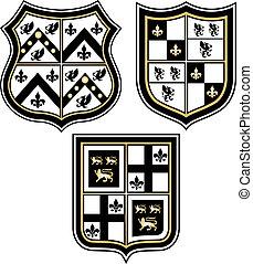 Herald-Emblem-Abzeichenschild