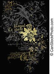Herald Emblem mit Blumen