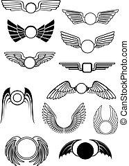 Heraldische Flügel bereit